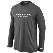 Wholesale Cheap Nike Atlanta Falcons Authentic Font Long Sleeve T-Shirt Dark Grey