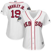 Wholesale Cheap Boston Red Sox #19 Jackie Bradley Jr. Majestic Women's 2018 World Series Champions Home Cool Base Player Jersey White