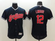 Wholesale Cheap Indians #12 Francisco Lindor Navy Blue Flexbase Authentic Collection Stitched MLB Jersey