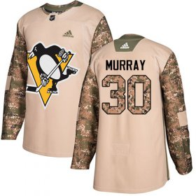 Wholesale Cheap Adidas Penguins #30 Matt Murray Camo Authentic 2017 Veterans Day Stitched Youth NHL Jersey