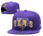 Wholesale Cheap Vikings Team Logo Purple 1961 Anniversary Adjustable Hat YD