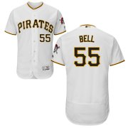 Wholesale Cheap Pittsburgh Pirates #55 Josh Bell Majestic Home Flex Base Authentic Collection Jersey White