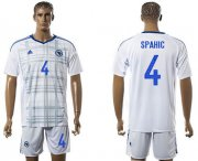 Wholesale Cheap Bosnia Herzegovina #4 Spahic Away Soccer Country Jersey