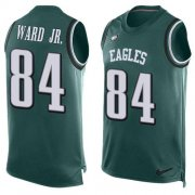 Wholesale Cheap Nike Eagles #84 Greg Ward Jr. Green Team Color Men's Stitched NFL Limited Tank Top Jersey