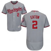 Wholesale Cheap Nationals #2 Adam Eaton Grey Flexbase Authentic Collection Stitched MLB Jersey