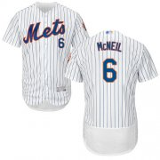 Wholesale Cheap Mets #6 Jeff McNeil White(Blue Strip) Flexbase Authentic Collection Stitched MLB Jersey