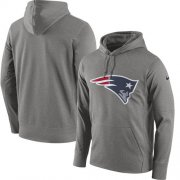 Wholesale Cheap Men's New England Patriots Nike Gray Circuit Logo Essential Performance Pullover Hoodie