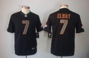 Wholesale Cheap Nike Broncos #7 John Elway Black Impact Youth Stitched NFL Limited Jersey