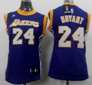 Wholesale Cheap Los Angeles Lakers #24 Kobe Bryant 2014 New Purple Womens Jersey