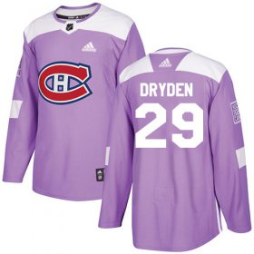 Wholesale Cheap Adidas Canadiens #29 Ken Dryden Purple Authentic Fights Cancer Stitched NHL Jersey