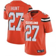 Wholesale Cheap Nike Browns #27 Kareem Hunt Orange Alternate Men's Stitched NFL Vapor Untouchable Limited Jersey