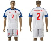 Wholesale Cheap Czech #2 Prochazka Away Soccer Country Jersey