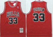 Wholesale Cheap Chicago Bulls #33 Scottie Pippen 1997-98 Red Hardwood Classics Soul Swingman Throwback Jersey