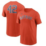 Wholesale Cheap Houston Astros Nike Jackie Robinson Day Team 42 T-Shirt Orange