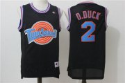 Wholesale Cheap Tune Squad 2 D.DUCK Black Stitched Movie Jersey