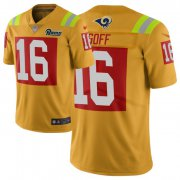 Wholesale Cheap Nike Rams #16 Jared Goff Gold Men's Stitched NFL Limited City Edition Jersey