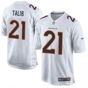 Wholesale Cheap Nike Broncos #21 Aqib Talib White Men's Stitched NFL Game Event Jersey