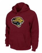 Wholesale Cheap Jacksonville Jaguars Logo Pullover Hoodie Red
