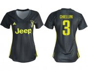 Wholesale Cheap Women's Juventus #3 Chiellini Third Soccer Club Jersey