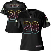 Wholesale Cheap Nike Packers #28 AJ Dillon Black Women's NFL Fashion Game Jersey