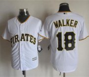 Wholesale Cheap Pirates #18 Neil Walker White New Cool Base Stitched MLB Jersey