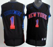 Wholesale Cheap New York Knicks #1 Amare Stoudemire 2012 Vibe Black Fashion Jersey