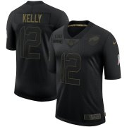 Wholesale Cheap Nike Bills 12 Jim Kelly Black 2020 Salute To Service Limited Jersey
