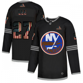 Wholesale Cheap New York Islanders #27 Anders Lee Adidas Men\'s Black USA Flag Limited NHL Jersey