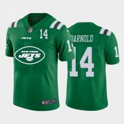 Wholesale Cheap New York Jets #14 Sam Darnold Green Men's Nike Big Team Logo Player Vapor Limited NFL Jersey
