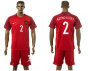 Wholesale Cheap Portugal #2 Bruno Alves Home Soccer Country Jersey