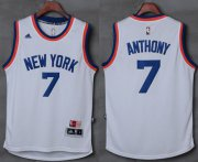 Wholesale Cheap Knicks #7 Carmelo Anthony New White Stitched NBA Jersey
