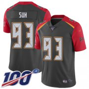 Wholesale Cheap Nike Buccaneers #93 Ndamukong Suh Gray Men's Stitched NFL Limited Inverted Legend Jersey