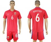 Wholesale Cheap Norway #6 Nordtveit Home Soccer Country Jersey
