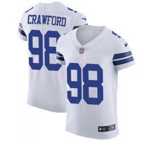 Wholesale Cheap Nike Cowboys #98 Tyrone Crawford White Men\'s Stitched NFL Vapor Untouchable Elite Jersey