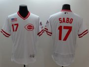 Wholesale Cheap Reds #17 Chris Sabo White Flexbase Authentic Collection Cooperstown Stitched MLB Jersey