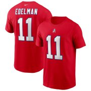 Wholesale Cheap New England Patriots #11 Julian Edelman Nike Team Player Name & Number T-Shirt Red
