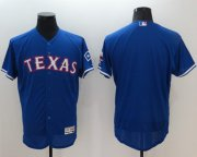 Wholesale Rangers Blank Blue Flexbase Authentic Collection Stitched Baseball Jersey