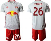 Wholesale Cheap Red Bull #26 Parker White Home Soccer Club Jersey