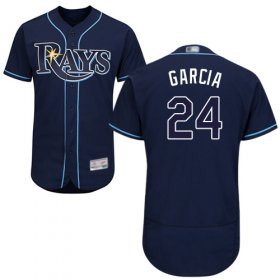 Wholesale Cheap Rays #24 Avisail Garcia Dark Blue Flexbase Authentic Collection Stitched MLB Jersey
