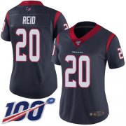 Wholesale Cheap Nike Texans #20 Justin Reid Navy Blue Team Color Women's Stitched NFL 100th Season Vapor Limited Jersey