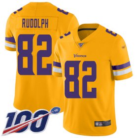 Wholesale Cheap Nike Vikings #82 Kyle Rudolph Gold Men\'s Stitched NFL Limited Inverted Legend 100th Season Jersey