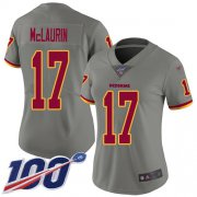 Wholesale Cheap Nike Redskins #17 Terry McLaurin Gray Women's Stitched NFL Limited Inverted Legend 100th Season Jersey