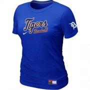 Wholesale Cheap Women's Detroit Tigers Nike Short Sleeve Practice MLB T-Shirt Blue