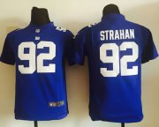 Wholesale Cheap Nike Giants #92 Michael Strahan Royal Blue Team Color Youth Stitched NFL Elite Jersey