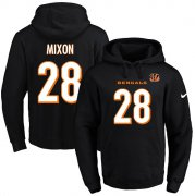Wholesale Cheap Nike Bengals #28 Joe Mixon Black Name & Number Pullover NFL Hoodie