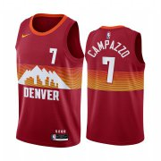 Wholesale Cheap Nike Nuggets #7 Facundo Campazzo Red NBA Swingman 2020-21 City Edition Jersey
