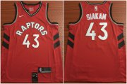 Wholesale Cheap Toronto Raptors 43 Pascal Siakam Red Nike Swingman Jersey