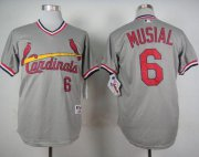 Wholesale Cheap Cardinals #6 Stan Musial Grey 1978 Turn Back The Clock Stitched MLB Jersey