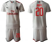 Wholesale AC Milan #20 Abate Away Soccer Club Jersey