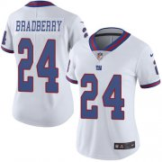 Wholesale Cheap Nike Giants #24 James Bradberry White Women's Stitched NFL Limited Rush Jersey